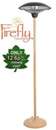 2.1kW IP44 Freestanding Heater with Beech Wood Effect Stand and Base IP44 by Firefly™