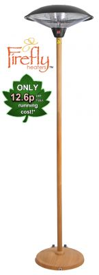 2.1KW Freestanding Heater with Oak Wood Effect Stand and Base by Firefly™