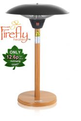 2.1kW IP44 Tabletop Heater with Oak Wood Effect Stand and Base by Firefly™