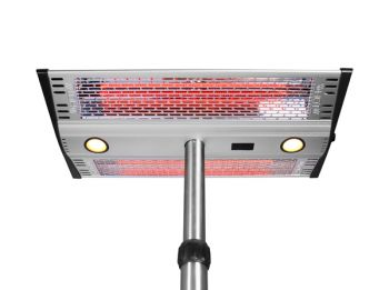 2KW Freestanding Heater with Remote Control and LED Lights by Firefly™