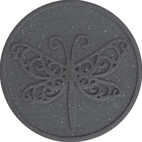 "18"" (46cm) Reversible EcoTrend Stepping Stone Dragonfly design in Grey"