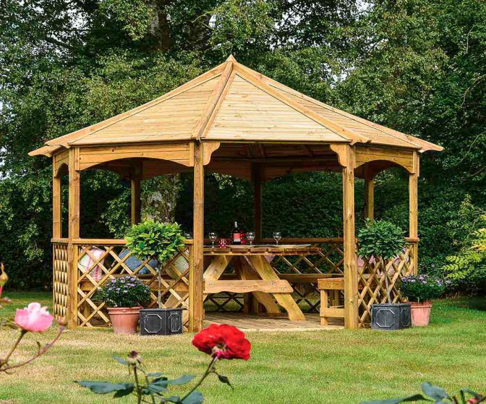 Buckingham Wooden Gazebo H2.8m