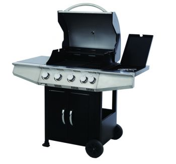 Calgary 4 Burner Gas BBQ with Side Burner W129cm x H114cm