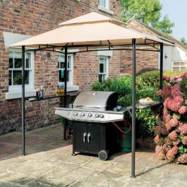 W2.5m (8ft 2in) Roma BBQ Gazebo in Taupe by Rowlinson®