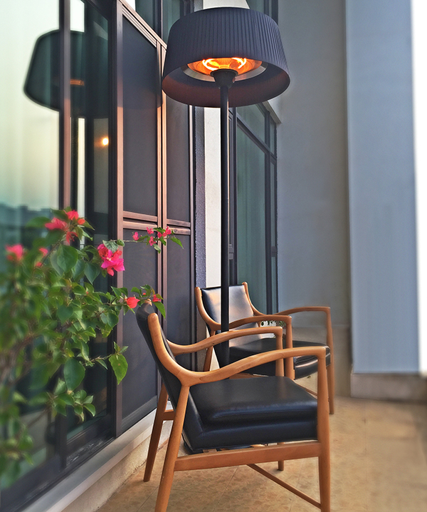 Firefly­™ Black Lampshade Heater with Black Stand and Base 2.1KW