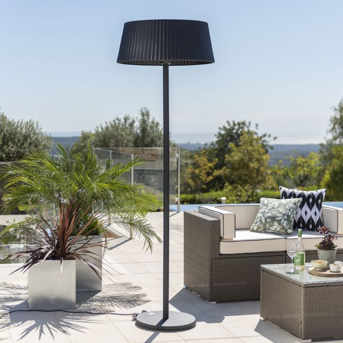 2.1kW IP44 Black Lampshade Heater with Black Stand and Base by Firefly­™