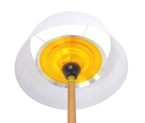 Firefly­™ White Lampshade Heater with Oak Wood Effect Stand and Base 2.1KW