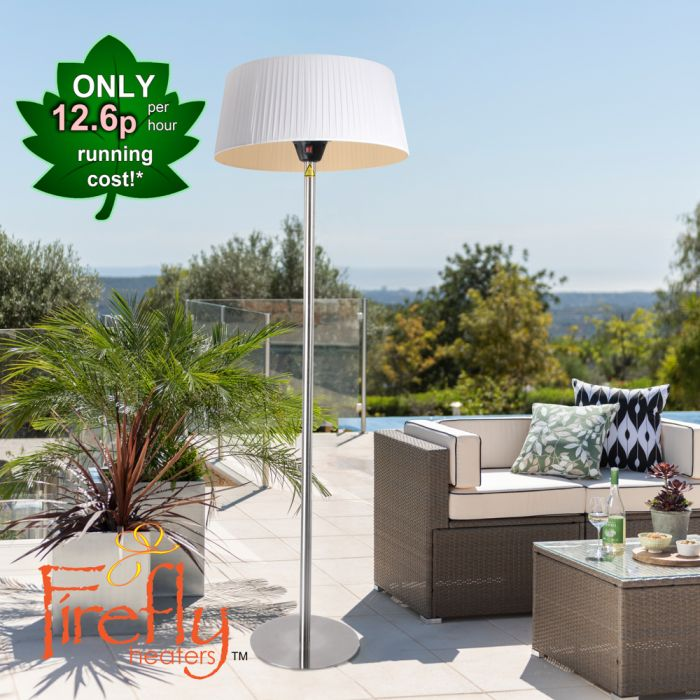 2.1KW IP44 White Lampshade Heater with Stainless Steel Stand and Base by Firefly­™