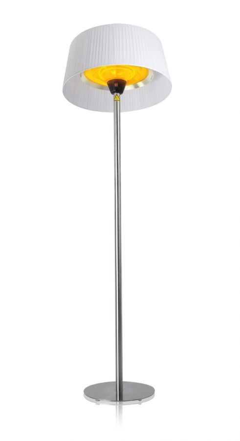 2 1kw Ip44 White Lampshade Heater With Stainless Steel