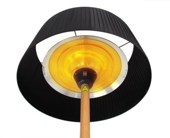 Firefly�� Black Lampshade Heater with Oak Wood Effect Stand and Base 2.1KW