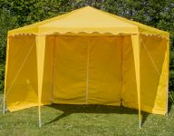 4m x 4m Side Walls for Budget Party Yellow Gazebo
