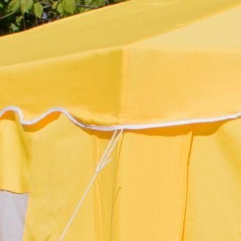 4m x 4m Budget Party Yellow Gazebo with Side Walls