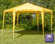 4m x 4m Budget Party Yellow Gazebo