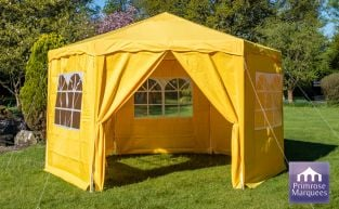 3.92m Budget Party Tent Yellow Gazebo with Side Walls