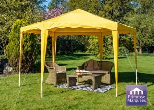 3.93m Budget Party Tent Yellow Gazebo
