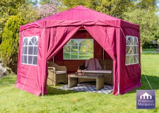 3.92m Budget Party Tent Purple Gazebo with Side Walls
