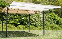 3m x 3m Clevedon Ivory Metal Gazebo with Awning