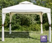 3m x 3m Chatsworth Ivory Steel Frame Gazebo