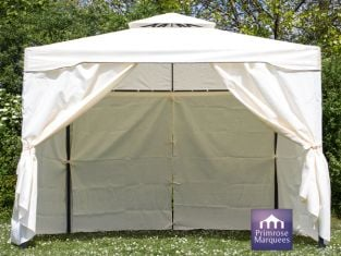 Side Walls for 3m x 3m Chatsworth Ivory Steel Frame Gazebo
