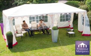 3m x 9m Clarendon Party Tent with Side Walls - by Primrose™