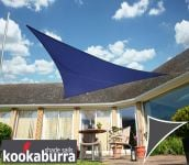 Kookaburra® 6m Right Angle Triangle Blue Breathable Party Shade Sail (Knitted 185g)