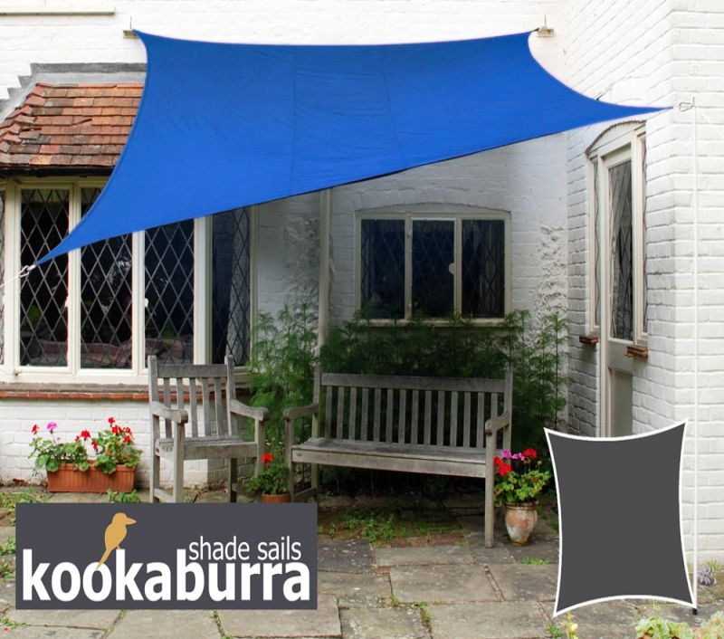 Kookaburra® 5.4m Square Blue Breathable Party Shade Sail (Knitted 185g)