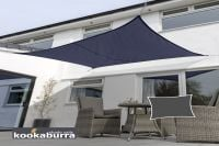 Kookaburra 4mx3m Rectangle Blue Breathable Party Shade Sail (Knitted 185g)