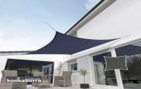 Kookaburra 3.6m Square Blue Breathable Party Shade Sail (Knitted 185g)