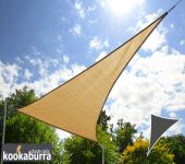 Kookaburra 6m Right Angle Triangle Sand Breathable Party Shade Sail (Knitted 185g)