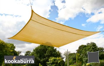 Kookaburra® 5.4m Square Sand Breathable Party Shade Sail (Knitted 185g)