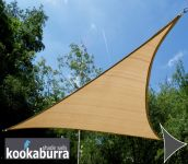 Kookaburra 5m Triangle Sand Breathable Party Shade Sail (Knitted 185g)