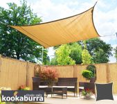 Kookaburra 3.6m Square Sand Breathable Party Shade Sail (Knitted 185g)