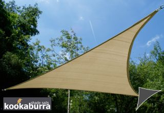 Kookaburra® 3m Triangle Sand Breathable Party Shade Sail (Knitted 185gsm)