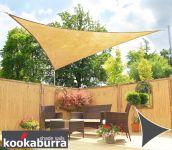 Kookaburra 3.6m Triangle Sand Breathable Party Shade Sail (Knitted 185g)