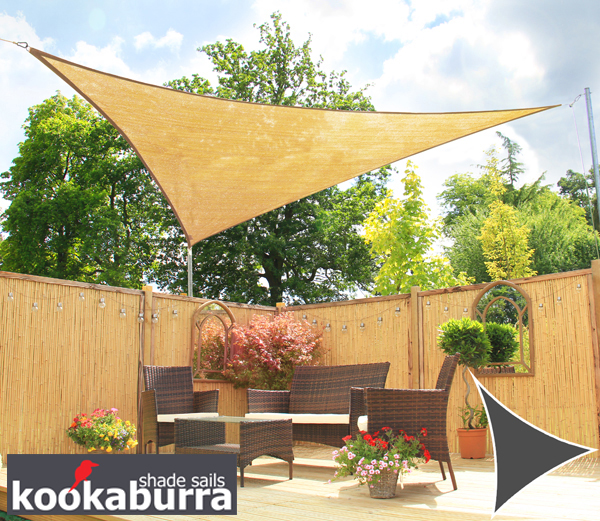 Kookaburra® 3.6m Triangle Sand Breathable Party Shade Sail (Knitted 185g)