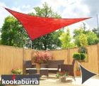 Kookaburra® 3.6m Triangle Red Breathable Party Shade Sail (Knitted 185g)