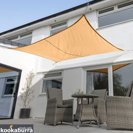Kookaburra® 5mx4m Rectangle Peach Waterproof Woven Shade Sail