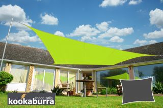 Kookaburra® 3mx2m Rectangle Lime Green Party Sail Shade (Woven - Water Resistant)