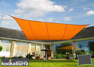 Kookaburra® 3mx2m Rectangle Orange Party Sail Shade (Woven - Water Resistant)