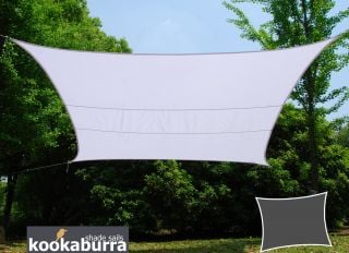 Kookaburra® 3mx2m Rectangle Polar White Party Sail Shade (Woven - Water Resistant)