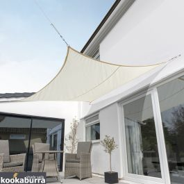 Kookaburra® 5.4m Square Ivory Breathable Party Shade Sail (Knitted 185gsm)