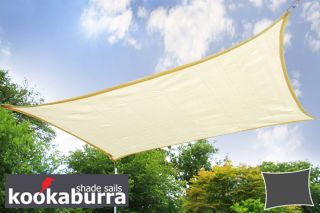 Kookaburra® 3mx2m Rectangle Ivory Breathable Party Shade Sail (Knitted 185gsm)