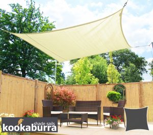 Kookaburra® 3m Square Ivory Breathable Party Shade Sail (Knitted 185gsm)