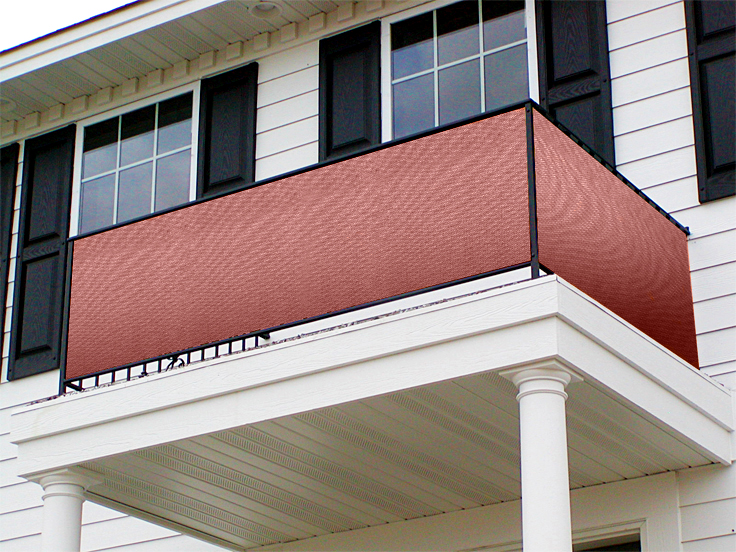 3m Terracotta 185gsm Knitted Net Screening - Shading 90%