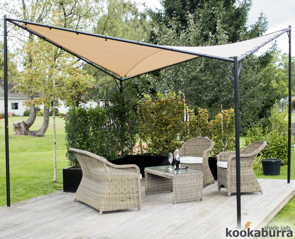 Kookaburra square sand waterproof shade sail gazebo for Colorado shade sail