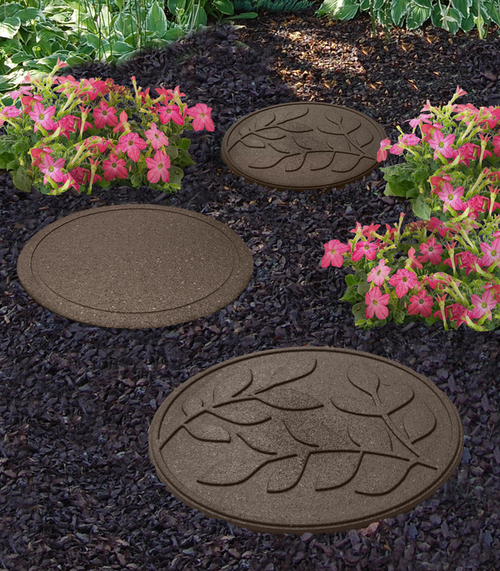 Reversible EcoTrend Stepping Stone Leaves design Earth