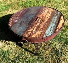 Indian Fire Bowl Wooden Top - 70cm