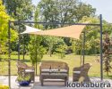 Kookaburra® 3m x 2m Rectangle Sand Waterproof Shade Sail With Frame and Fixing Kit