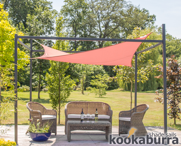 Kookaburra 174 3m X 2m Rectangle Terracotta Waterproof Shade