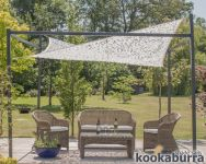 3m x 2m Rectangle Dappled Shade Sail with Frame and Fixing Kit